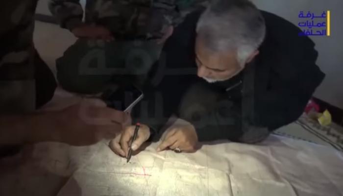 الإرهابي قاسم سليماني يدير معارك الحرس الثوري في سوريا