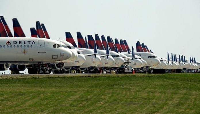 Aircraft belonging to the American airline Delta Airlines