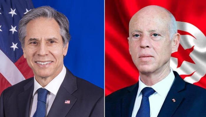 الرئيس التونسي ووزير الخارجية الأمريكي