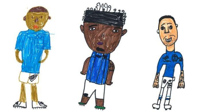 Caricatures of English club Everton