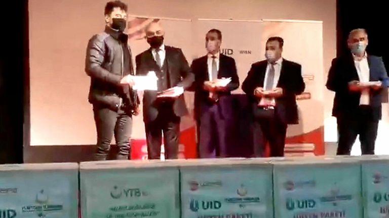 جانب من الاحتفالية التي أقامتها سفارة تركيا في فيينا
