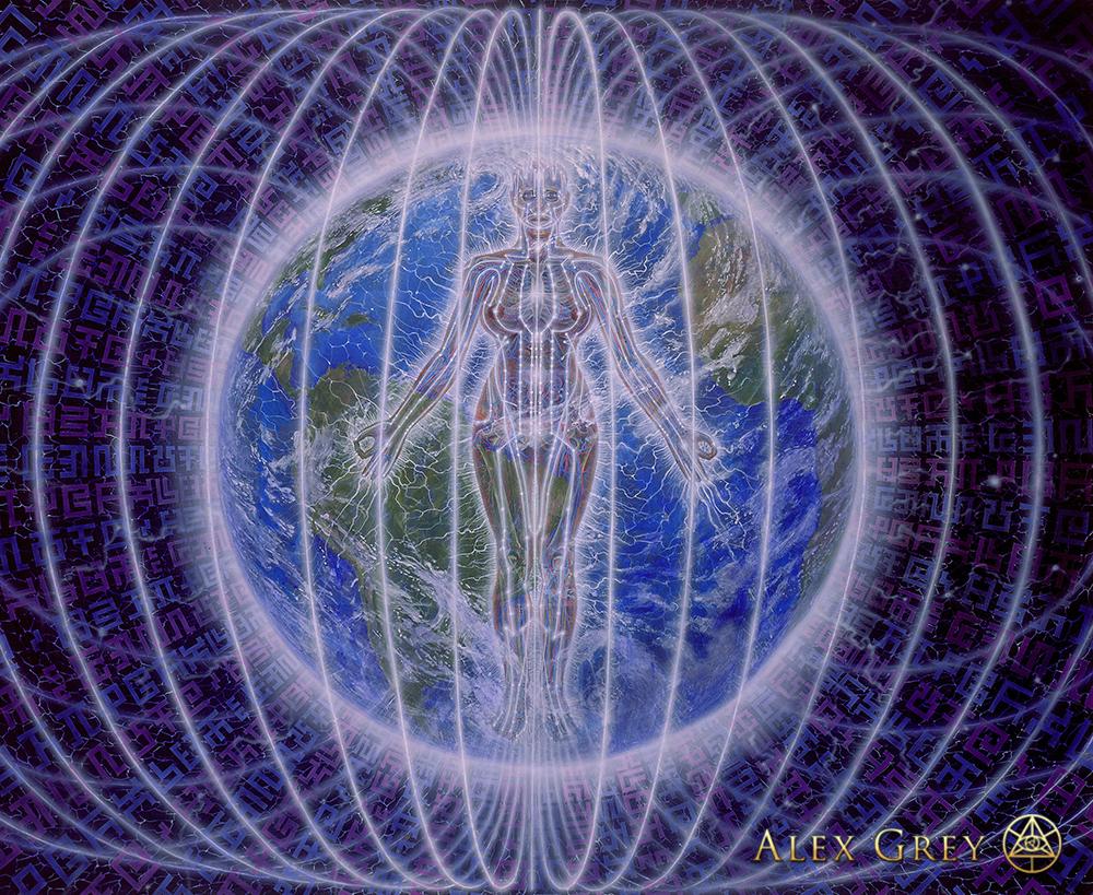 Mystic Falls Wallpaper Person Planet Alex Grey