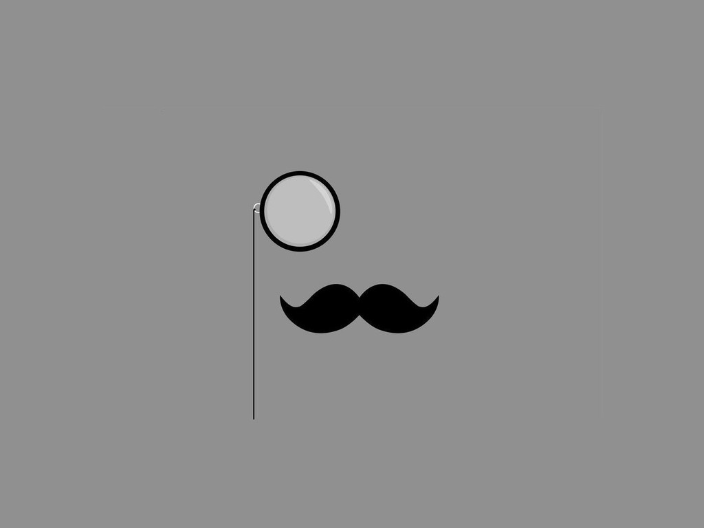 Cute Mustache Wallpapers For Iphone Minimalistic Monocle Simple Background Mustache Wallpaper