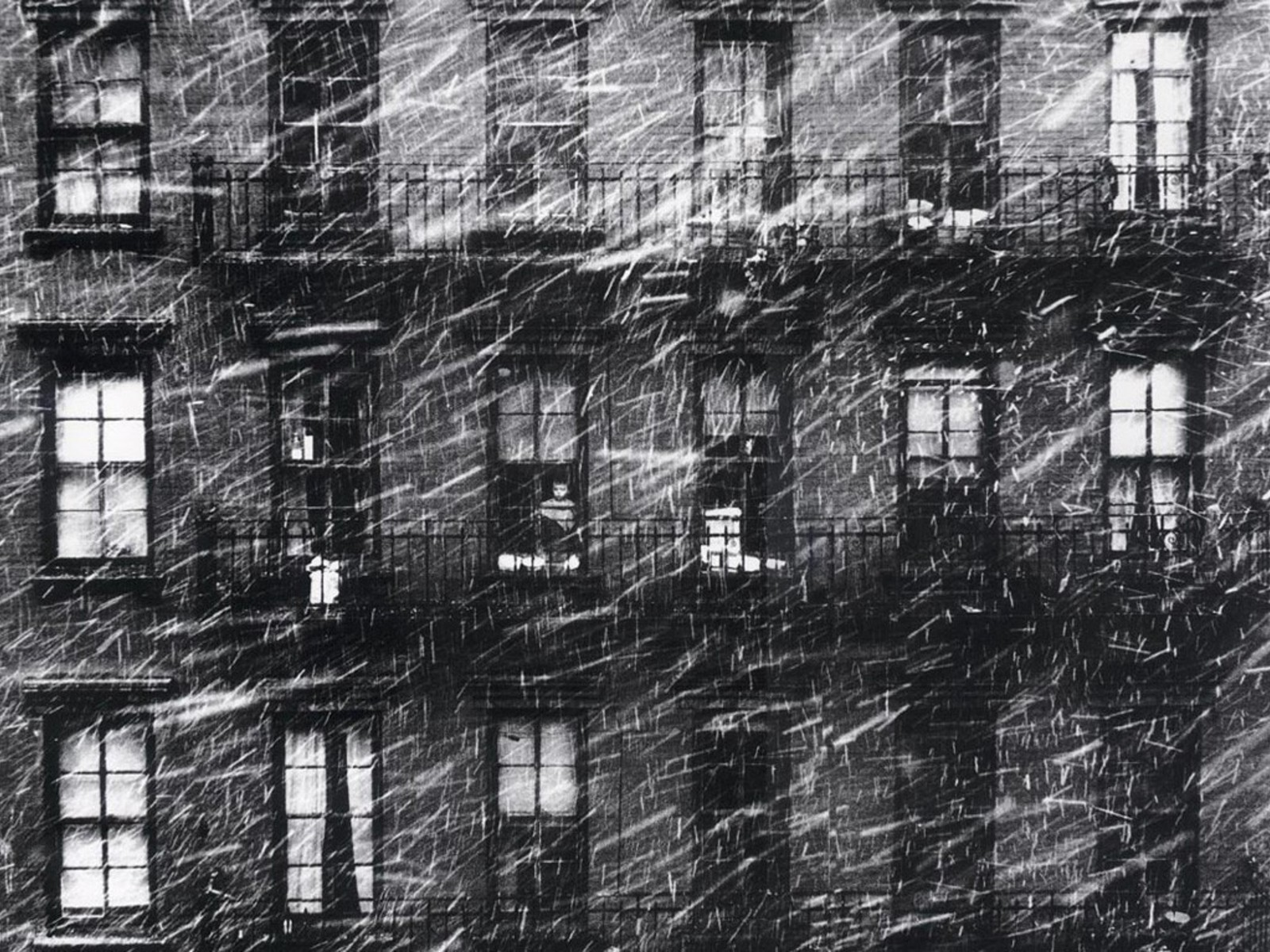 Snow Falling Wallpaper For Ipad Snow Houses Grayscale Old Photography Windows Paul Himmel