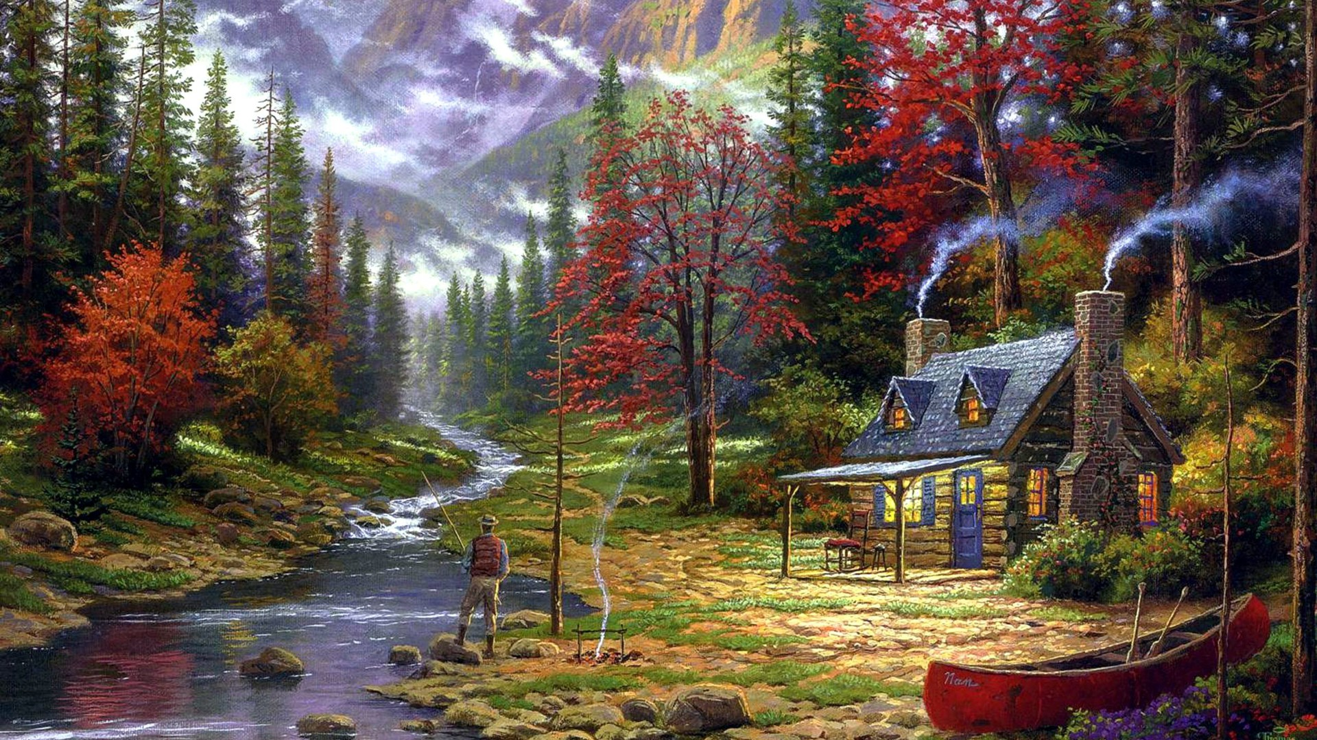 Free Fall Wallpaper For Iphone Fishermans Cottage Papier Peint Allwallpaper In 7118