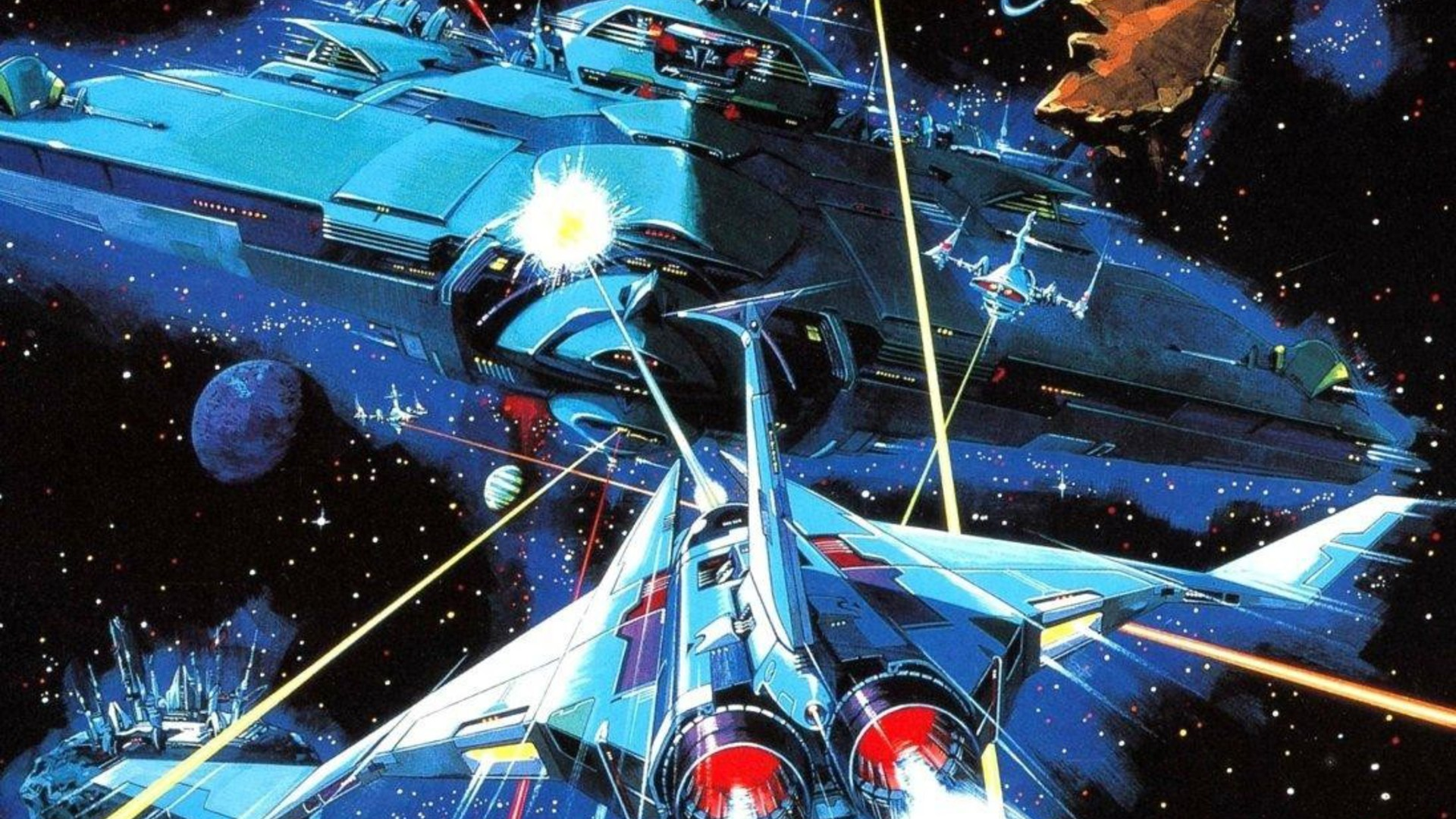 Live Wallpaper On Home Screen For Iphone X Planets Spaceships Battles Science Fiction Artwork Gradius