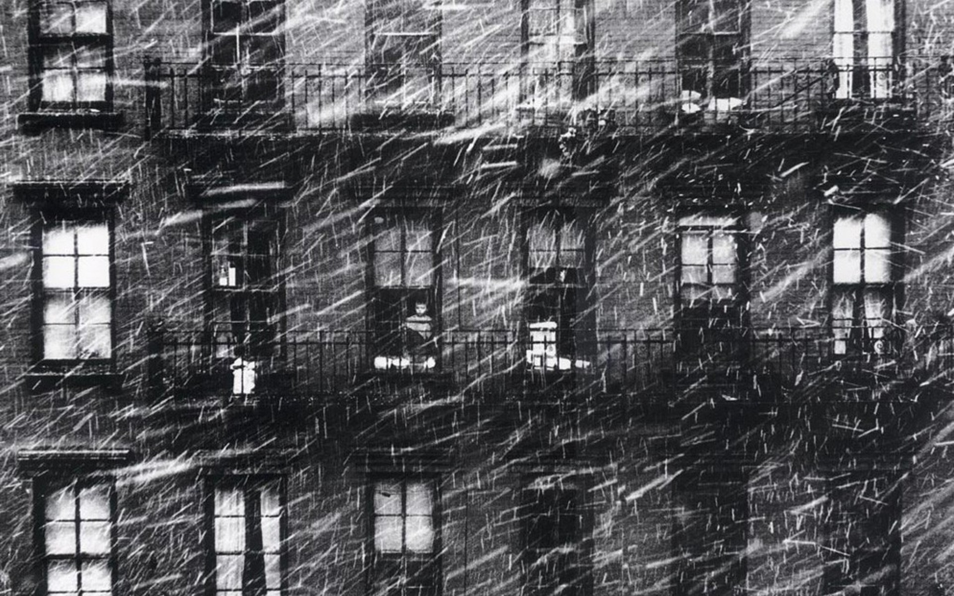 Falling Snow Wallpaper Iphone Snow Houses Grayscale Old Photography Windows Paul Himmel