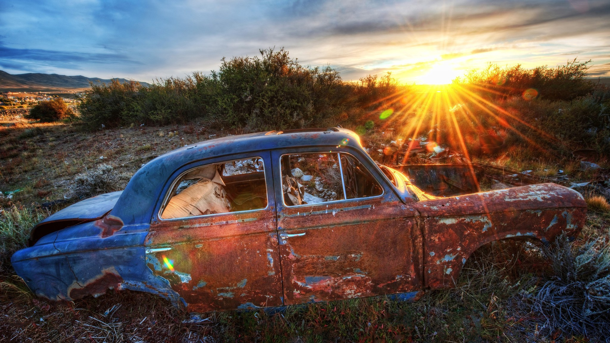 Classic Old Car Wallpapers 1600x900 Sunset Old Car Wallpaper Allwallpaper In 11576 Pc En