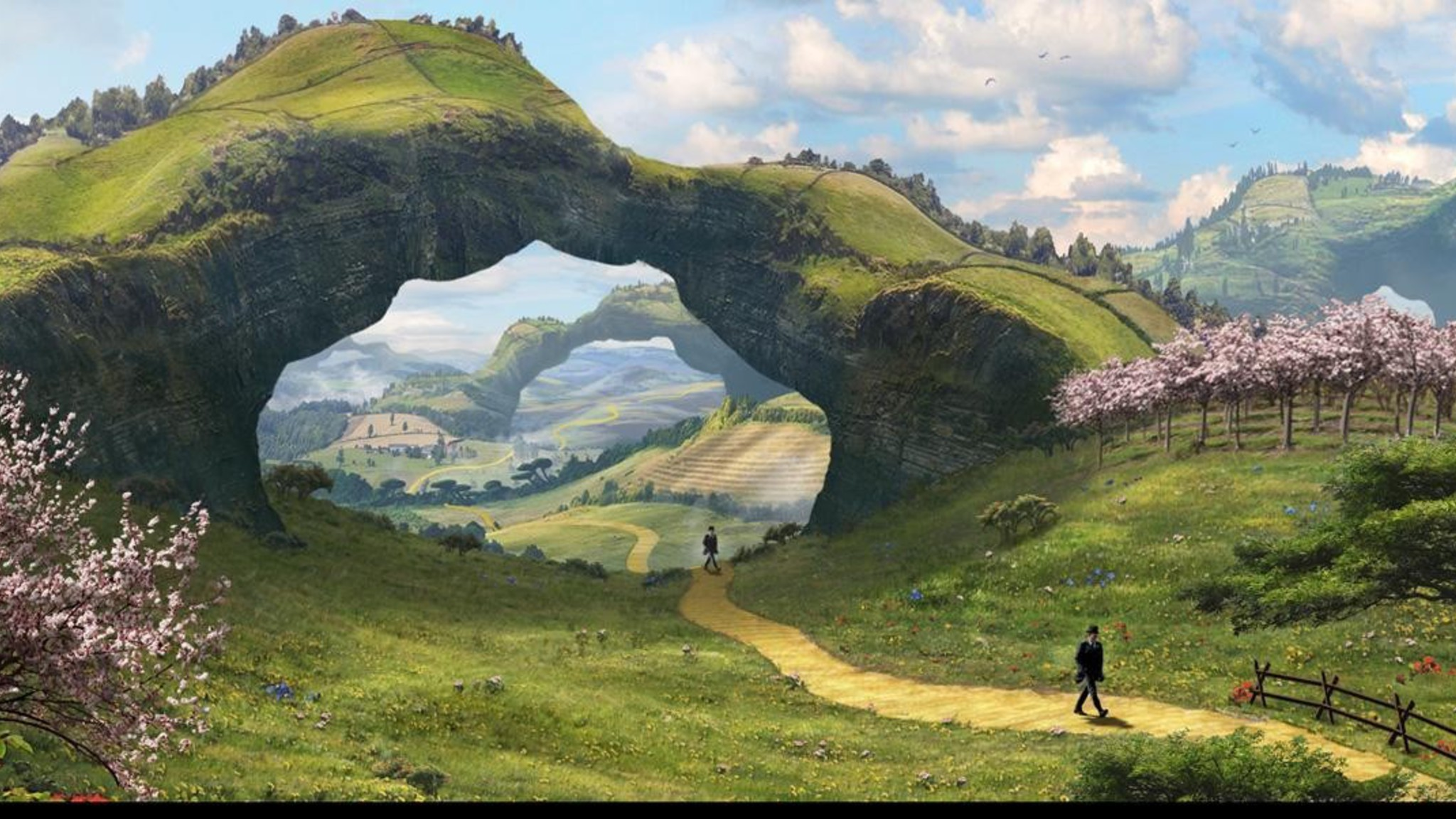 Ghibli Wallpaper Iphone Concept Art Oz The Great And Powerful Wallpaper