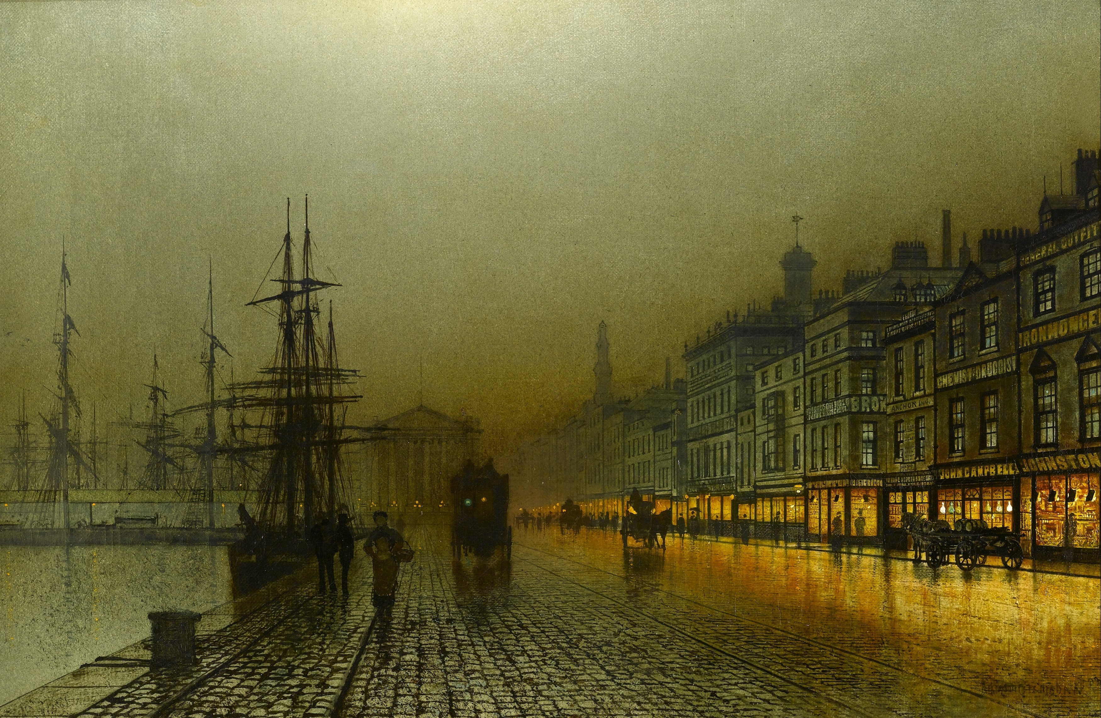 London England Iphone Wallpaper Artwork John Atkinson Grimshaw Wallpaper Allwallpaper In