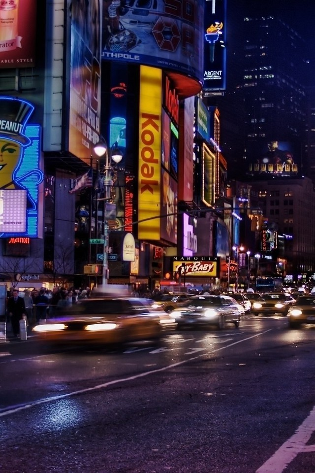 Iphone X New York Wallpaper New York City Times Square Multicolor Wallpaper