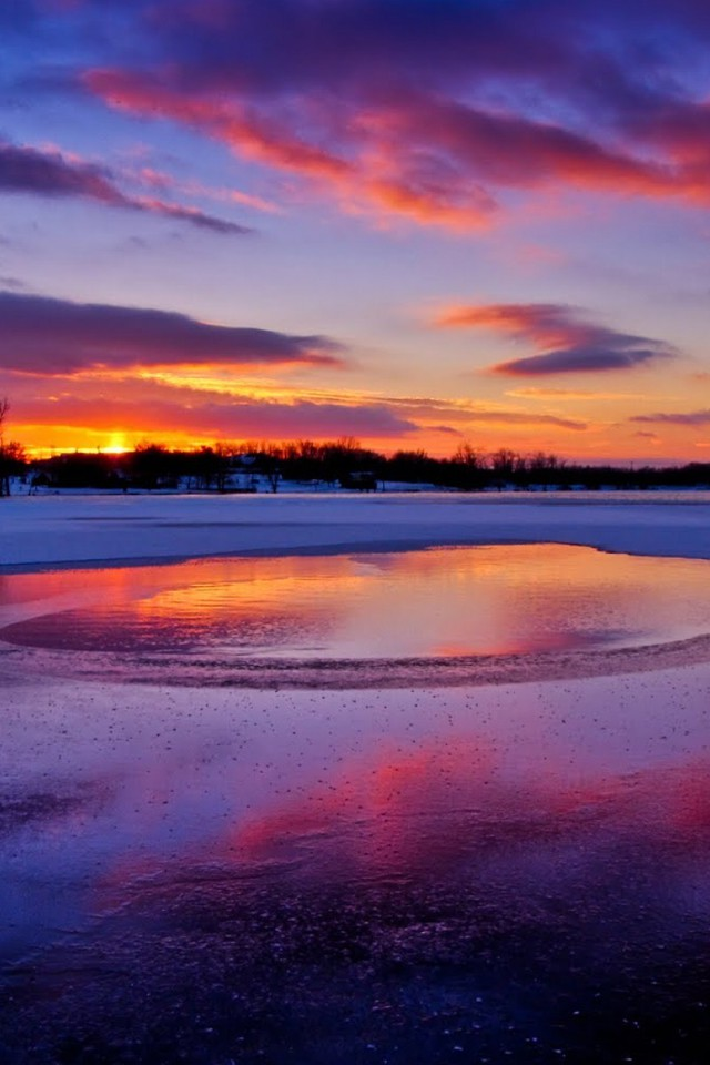 Cute Snapchat Wallpapers Colors Of A Winter Sunset Wallpaper Allwallpaper In