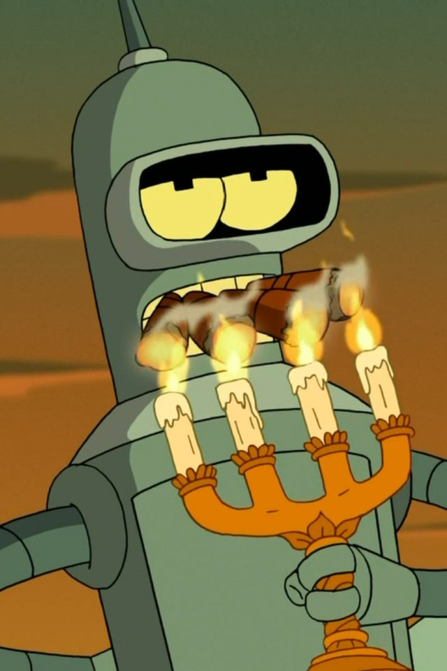 Quotes Wallpaper Hd 1366x768 Futurama Bender Smoking Cigars Candles Four Wallpaper