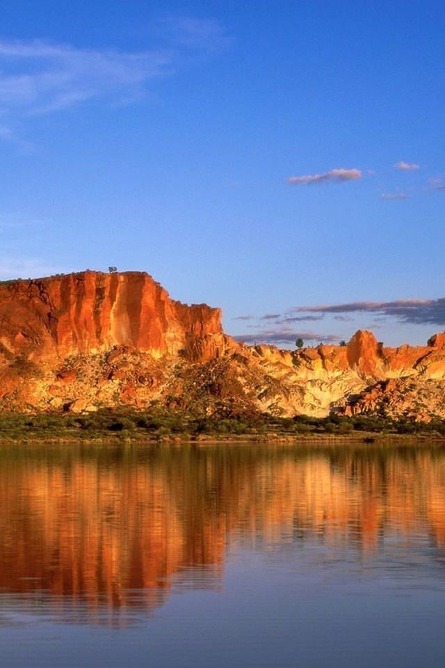 Iphone 4 Wallpaper Resolution D 233 Sert Lac En Australie Papier Peint Allwallpaper In