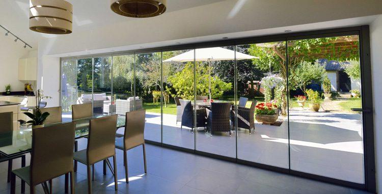 frameless glass bifold doors ats