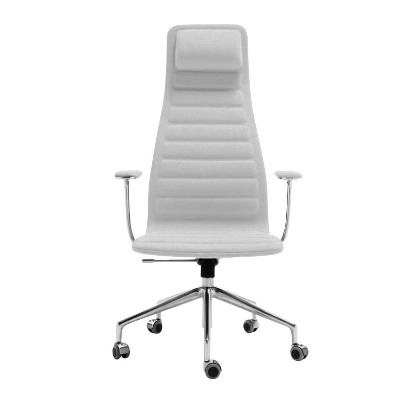 chair with wheels desk mat walmart cappellini lotus high office ambientedirect grey frame aluminium textile polaris