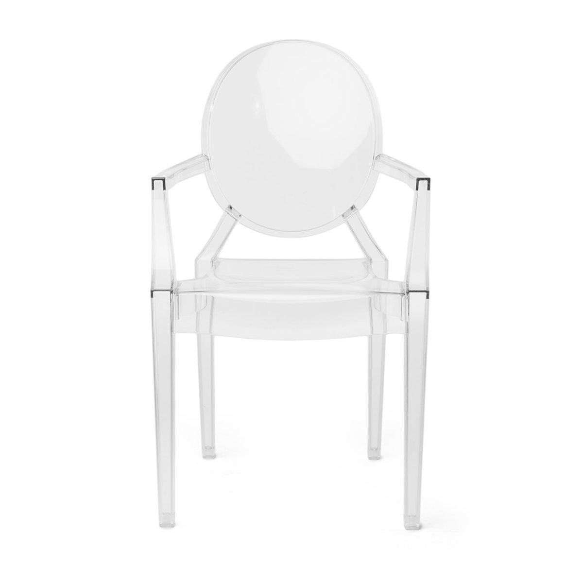 kids ghost chair teal adirondack chairs lou chaise avec accoudoirs enfant kartell