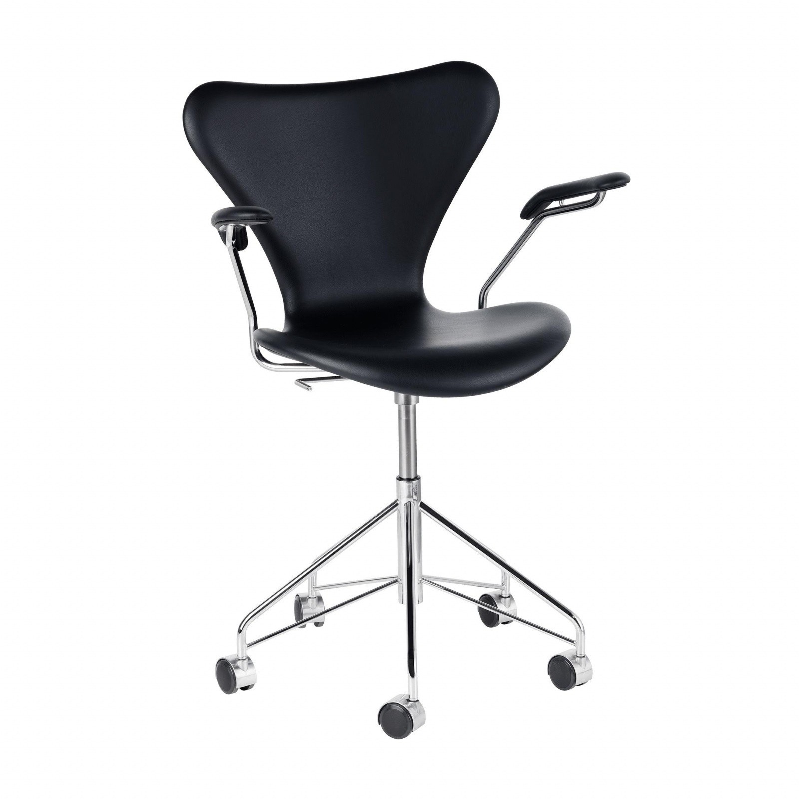 Fritz Hansen Chairs Serie 7 Swivel Armrest Chair Office Chair