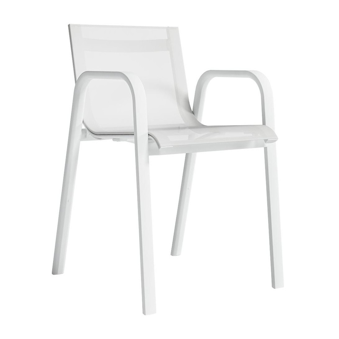 gandia blasco clack chair comfortable living room chairs stack garden with armrests h 78cm ambientedirect