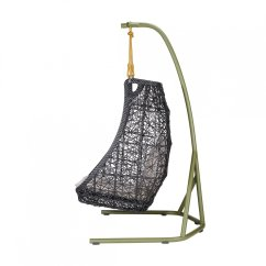 Swing Chair Patricia Urquiola White Resin With Padded Seat Maia Egg Hanging Kettal Ambientedirect