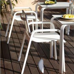 Gandia Blasco Clack Chair Upholstered Swivel Stack Garden With Armrests