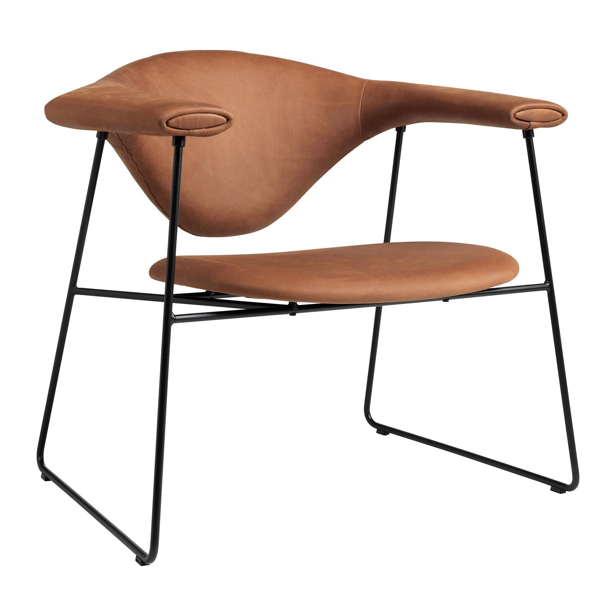 Sessel Leder Cognac Gubi Masculo Lounge Chair Sessel Leder | Ambientedirect