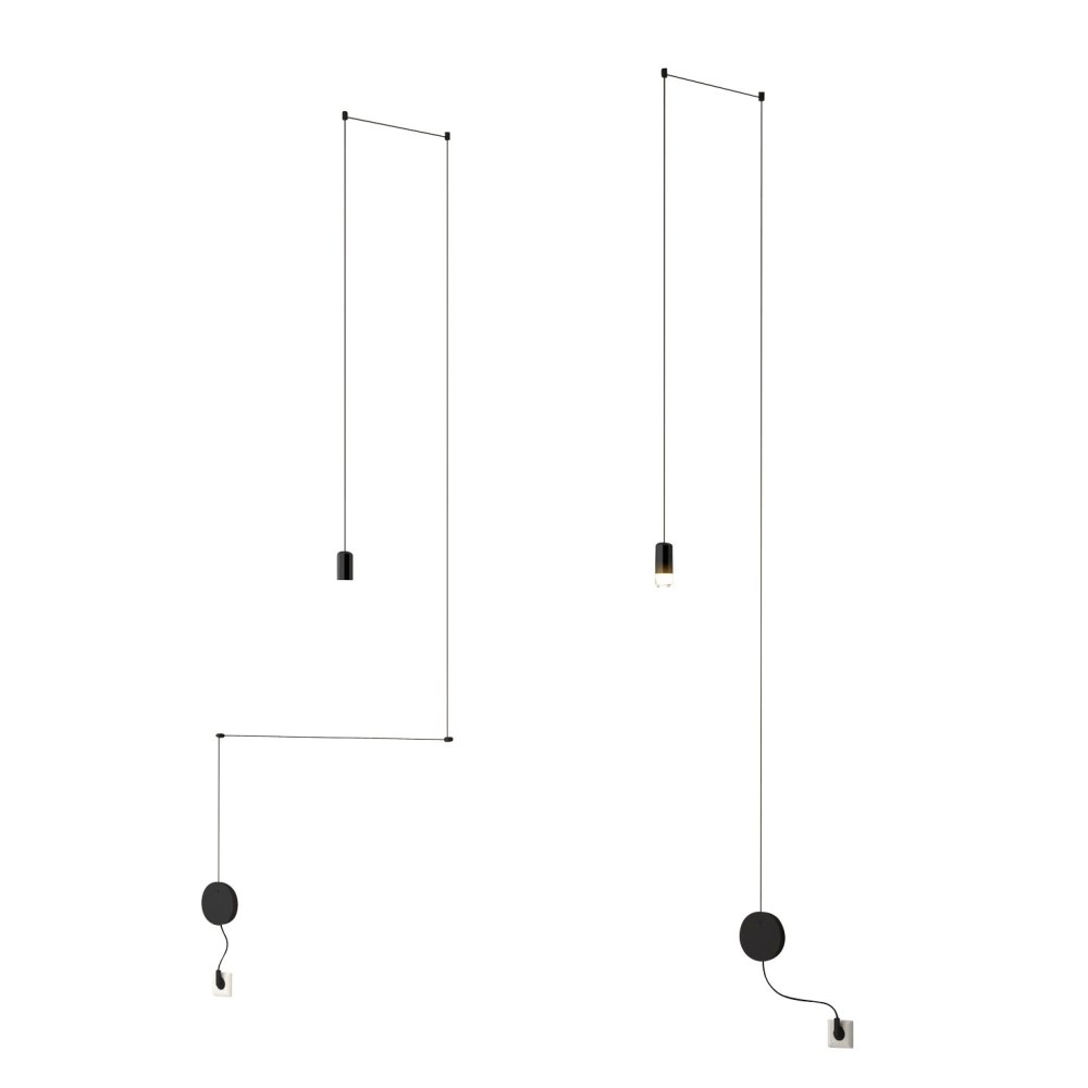 medium resolution of vibia wireflow freeform 0347 led suspension lamp black lacquered h