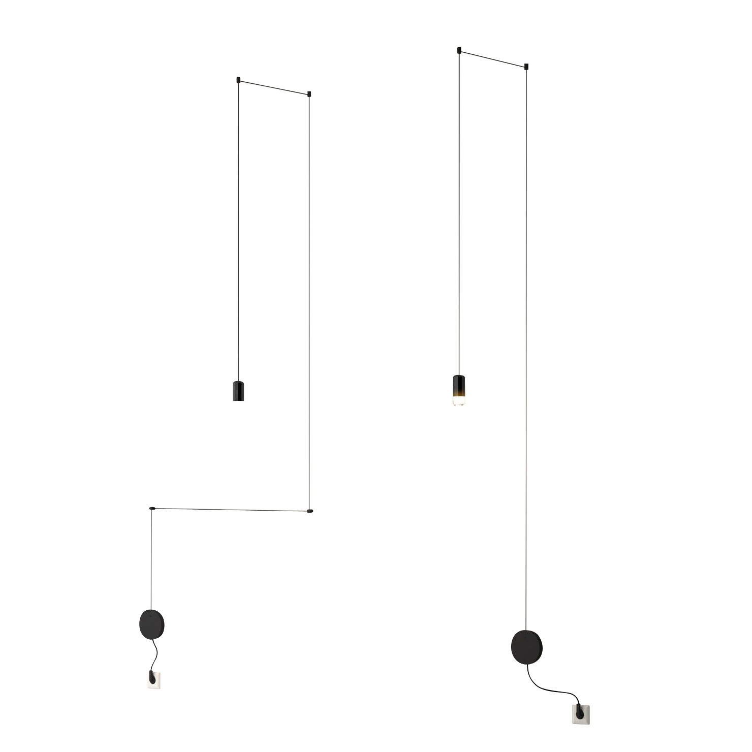 hight resolution of vibia wireflow freeform 0347 led suspension lamp black lacquered h