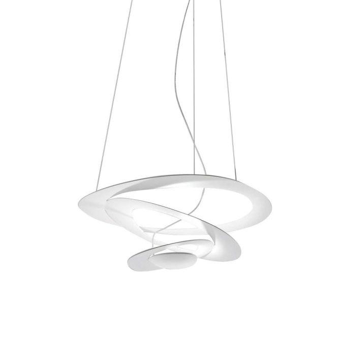 Artemide Pirce Micro Led Suspension Lamp White Matt Dimmable Push 2700k