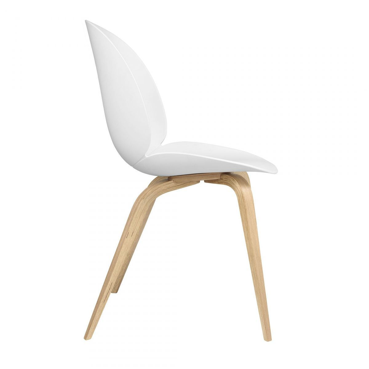 Beetle Dining Chair With Oak Wood Base  Gubi  Chairs