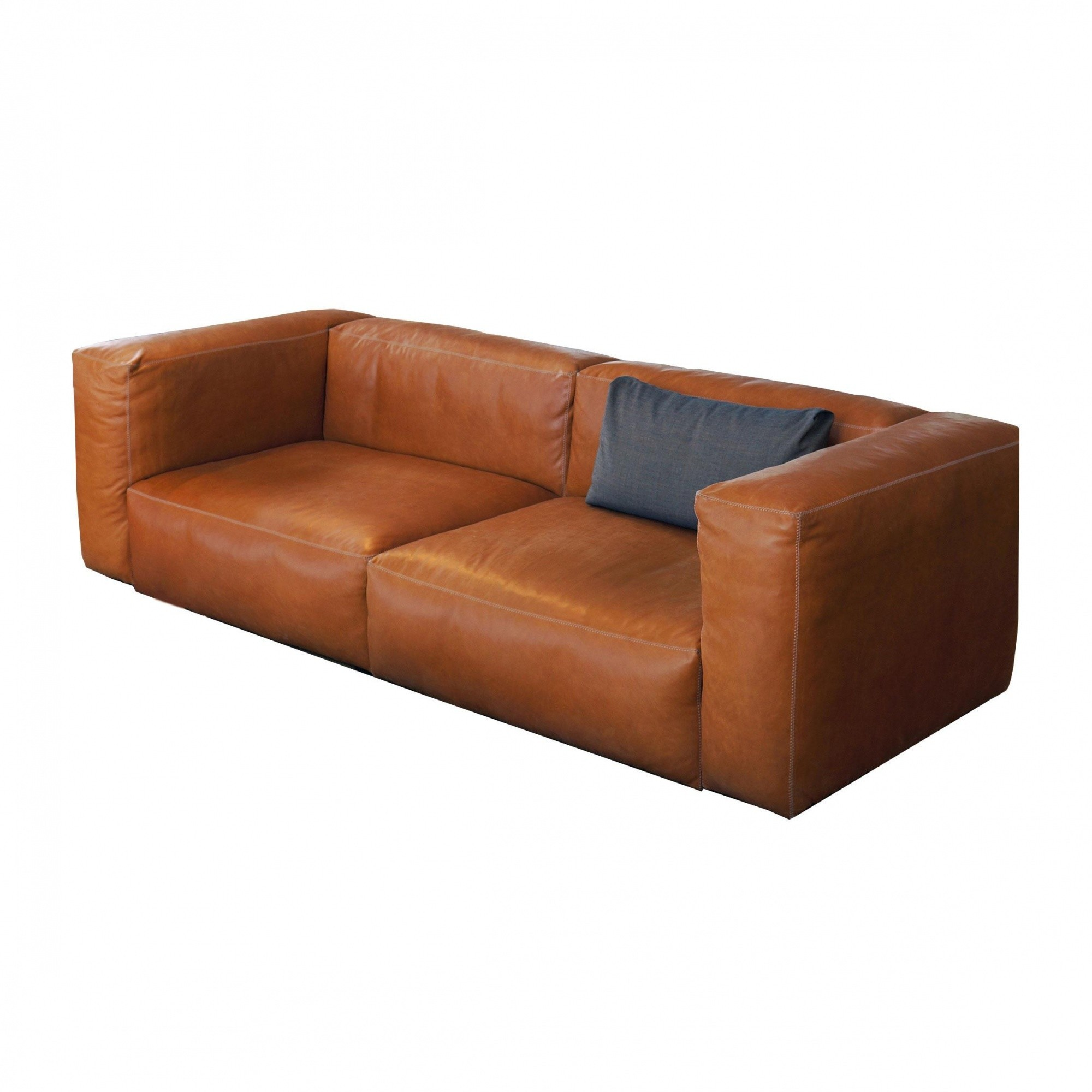 brown leather sofa on legs best budget sleeper hay mags soft 2 5 seater 228x95 5x67 ambientedirect 5cm cognac
