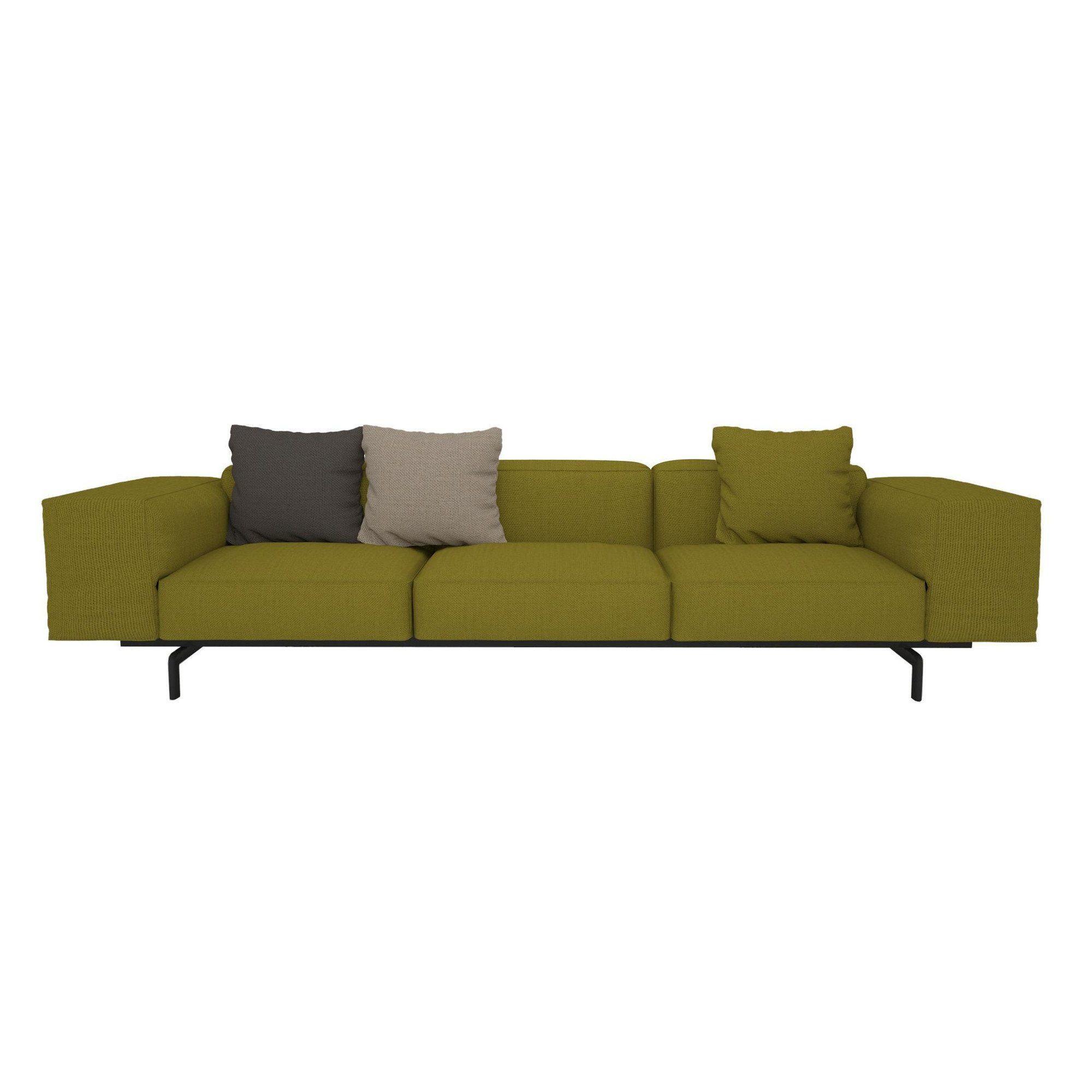 kartell sofa largo contemporary leather 3 sitzer ambientedirect