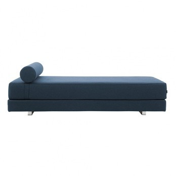 sofa bed with innerspring mattress for game room softline lubi ambientedirect day blue cord edge