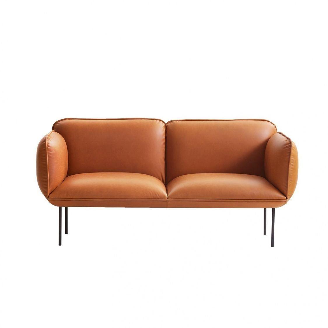 cheap brown leather 2 seater sofa types of sets in kenya nakki woud ambientedirect