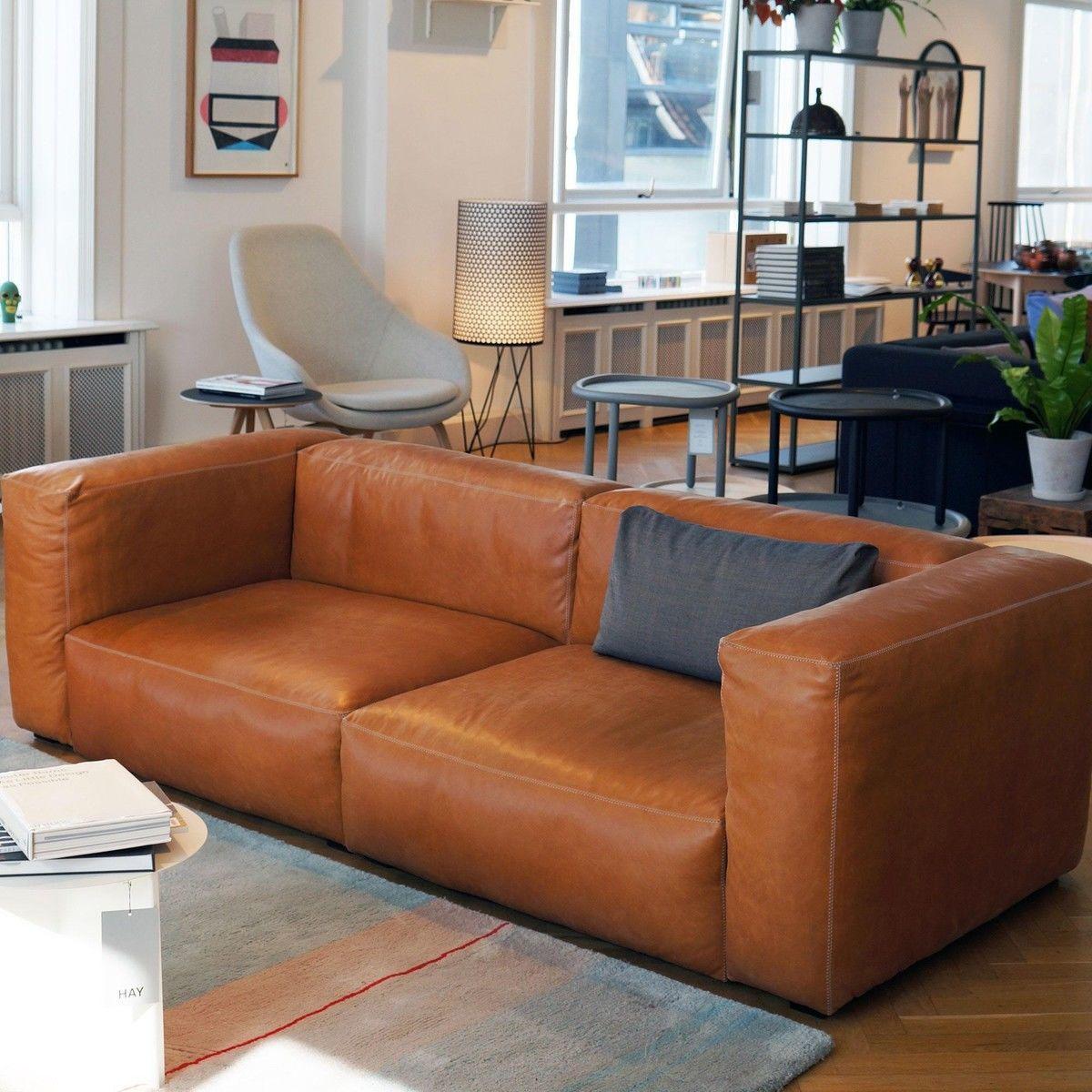 hay sofa mags leder world chairs soft 2,5-sitzer ledersofa | ambientedirect.com