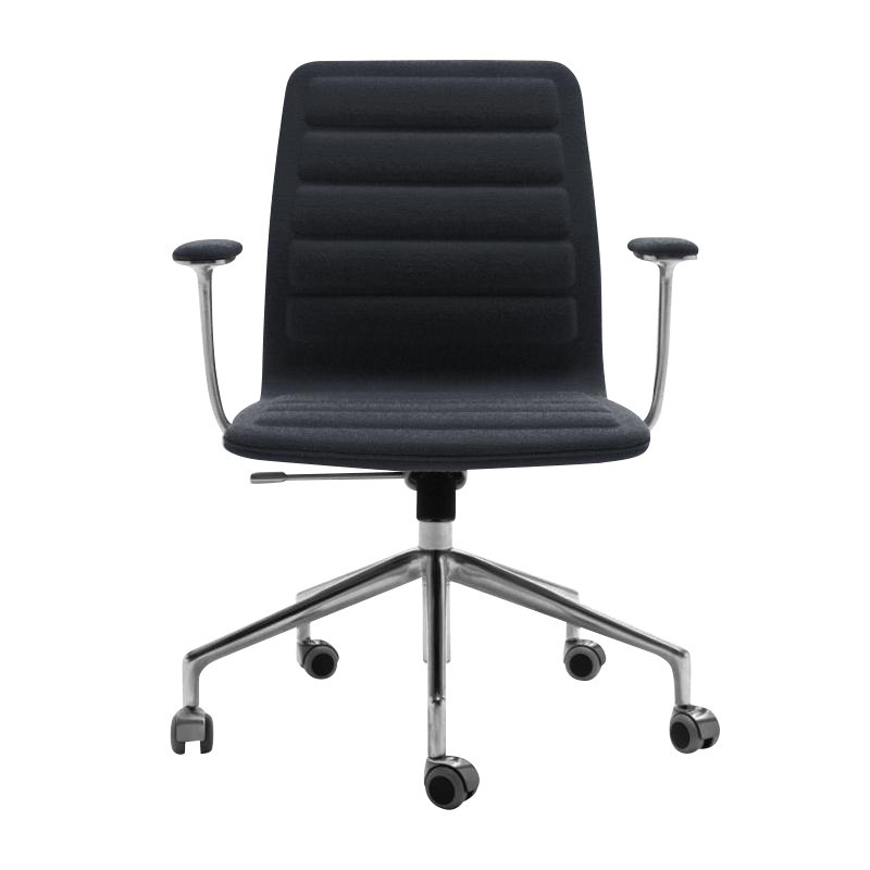 office chairs with wheels accent modern cappellini lotus low chair ambientedirect