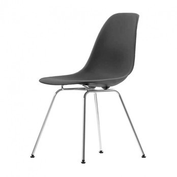 eames bucket chair fishing wow vitra plastic side dsx chromed base ambientedirect h43cm