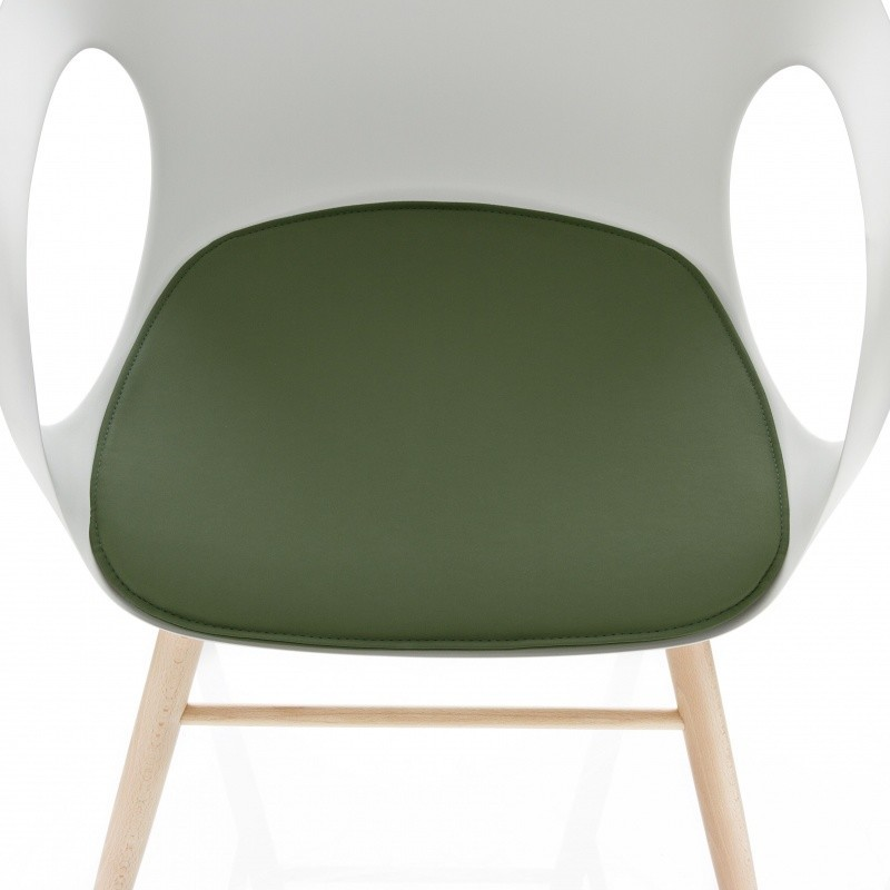 Kristalia Elephant Armchair with Wood Frame  AmbienteDirect