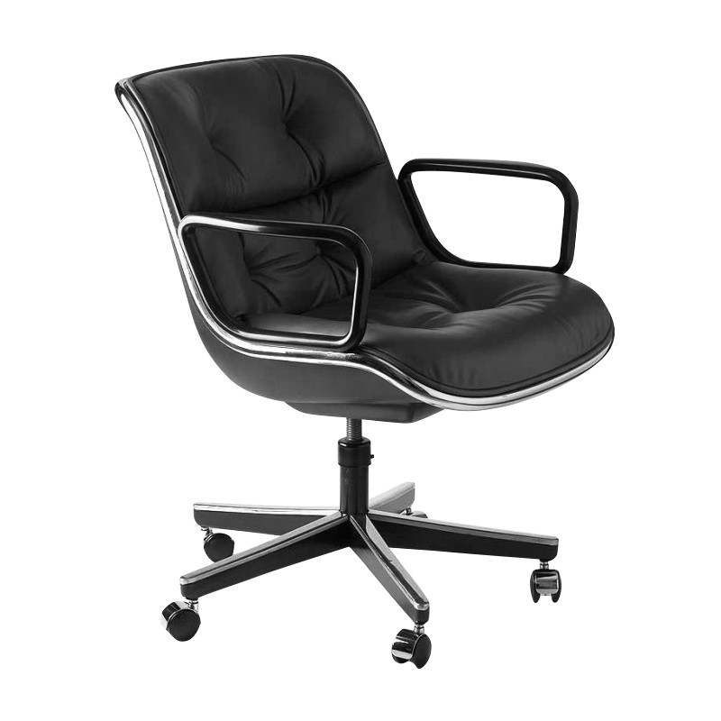 chair with wheels sealy posturepedic office knoll international pollock swivel ambientedirect