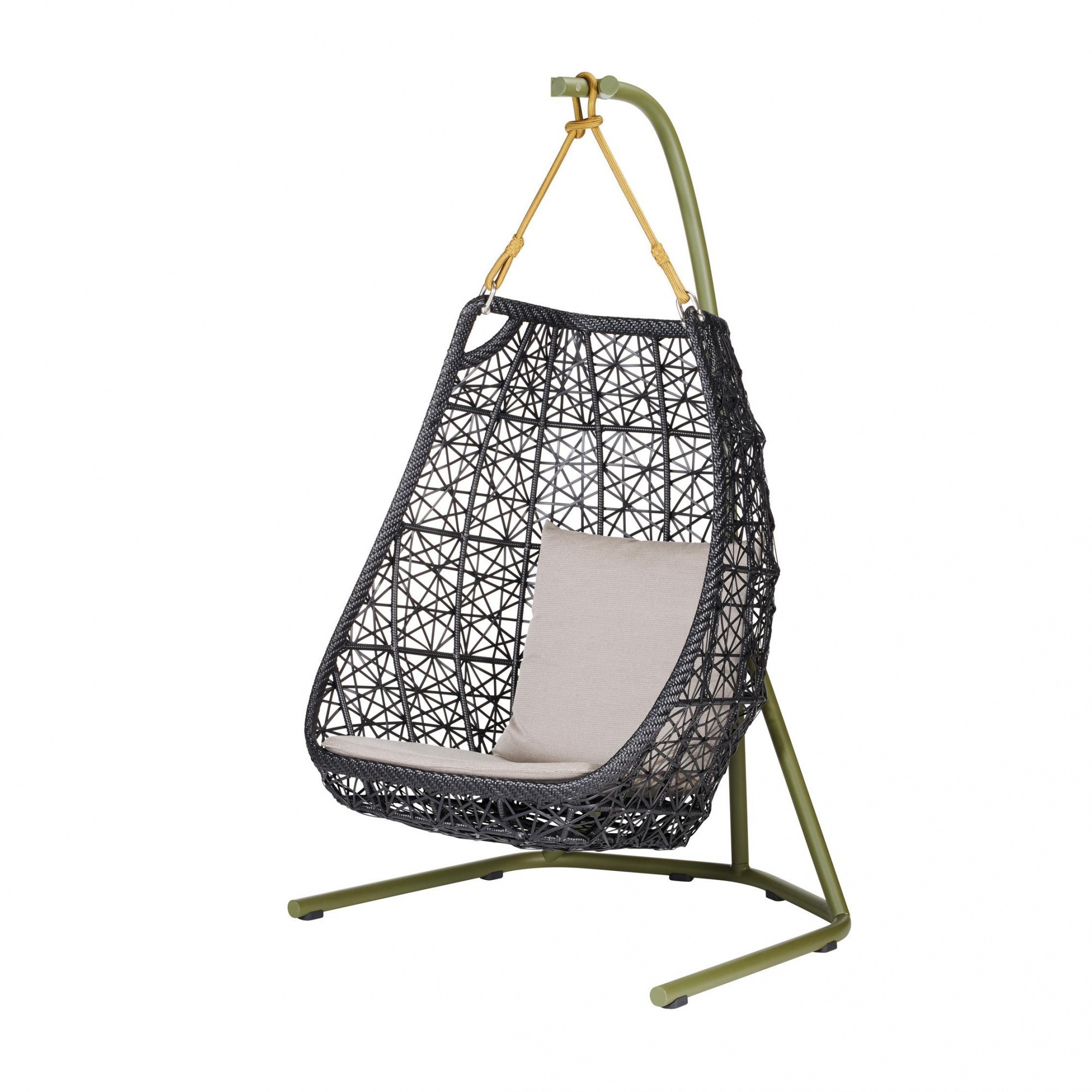 Egg Swing Chair Kettal Maia Egg Swing Hanging Chair Ambientedirect