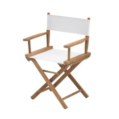 Directors Chair White Expensive Office Chairs Skagerak Director S Ambientedirect Frame Teak With Suntexture