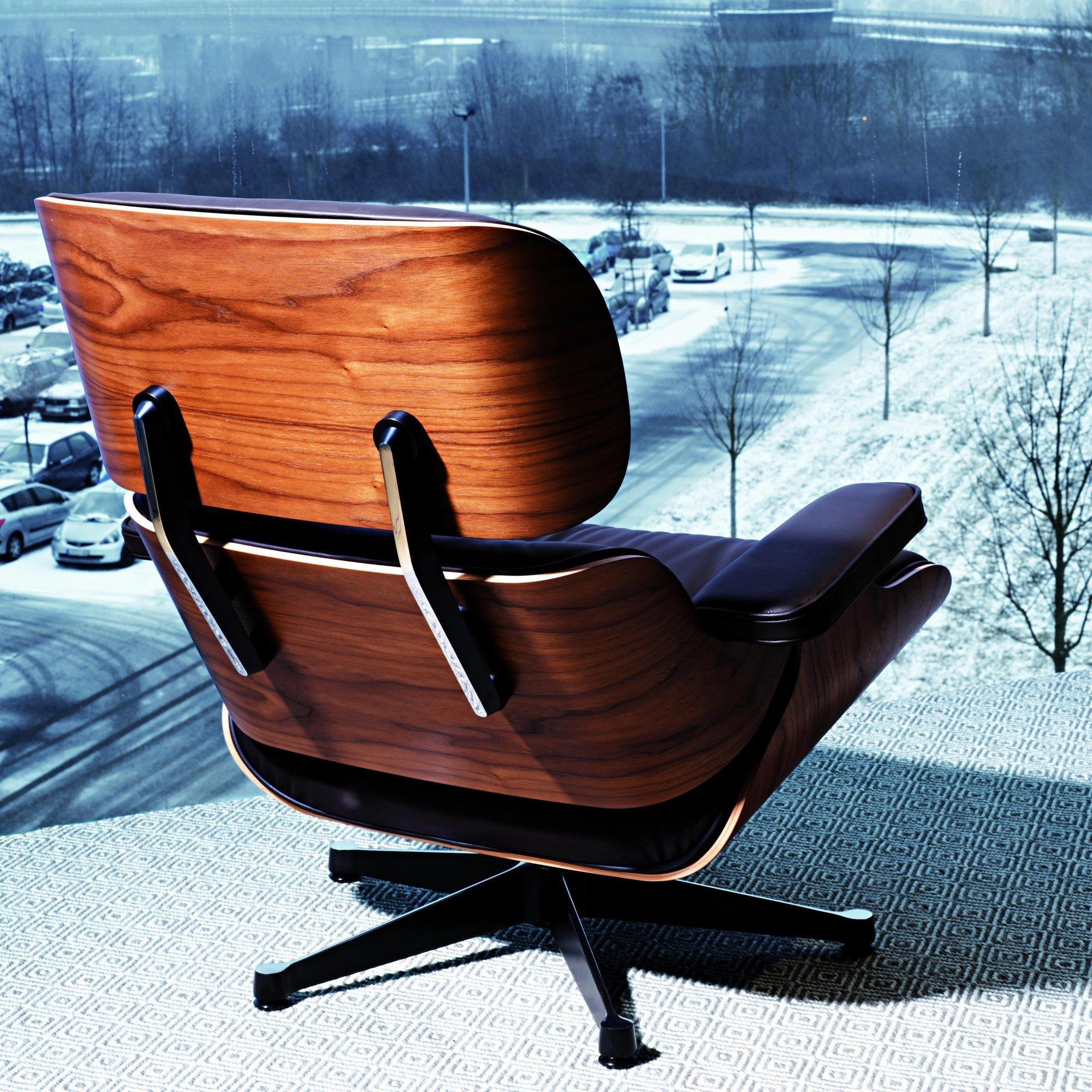 vitra lounge chair mid century dining eames ambientedirect