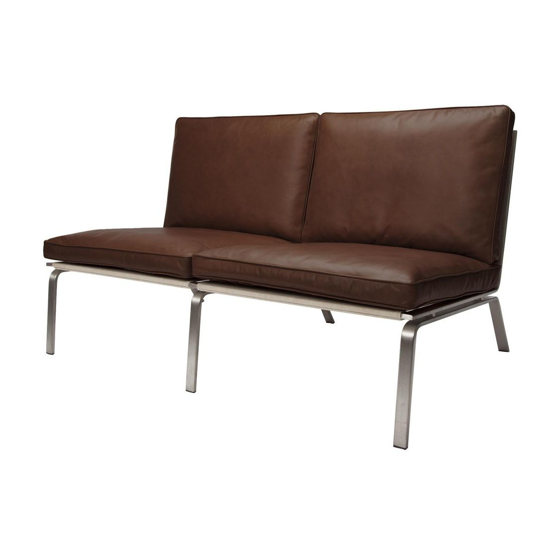 cheap brown leather 2 seater sofa bed mattress air dream man lounge norr 11 ambientedirect
