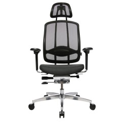 Office Chair Steel Base With Wheels Bodybilt Stretch Ergonomic (j2509 And J3509) Wagner Alumedic 10 Ambientedirect Breathable Mesh Cover Black Fabric