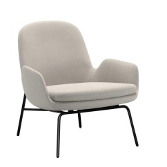 Steel Lounge Chair Deep Tissue Massage Normann Copenhagen Era Armchair Frame Ambientedirect Creme Fabric Fame