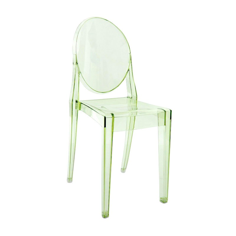 ghost chairs two piece chair kartell victoria ambientedirect green transparent