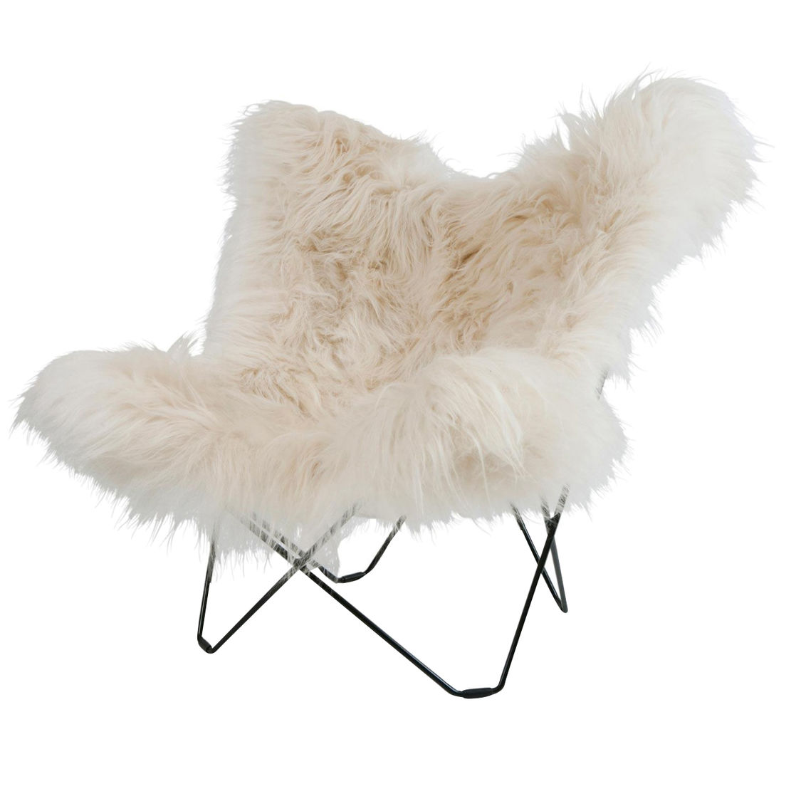 Fur Butterfly Chair Iceland Mariposa Butterfly Chair Cuero Ambientedirect