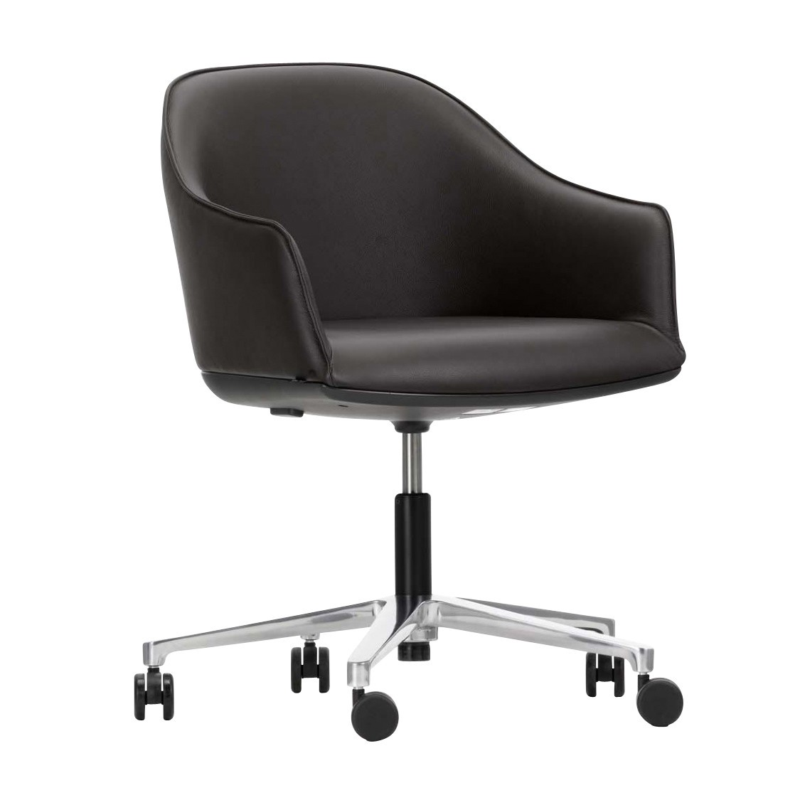 vitra ergonomic chair wheelchair ramp width softshell office ambientedirect nero black leather frame