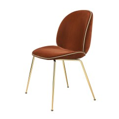 Panton Chair Review Captains Exercise Beetle Samtpolster Und Gestell Messing | Gubi Ambientedirect.com