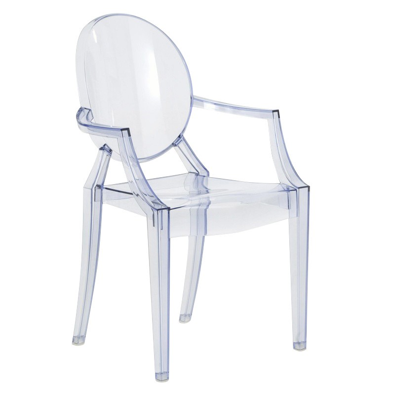 kartell lou lou ghost children s chair ice blue polycarbonate